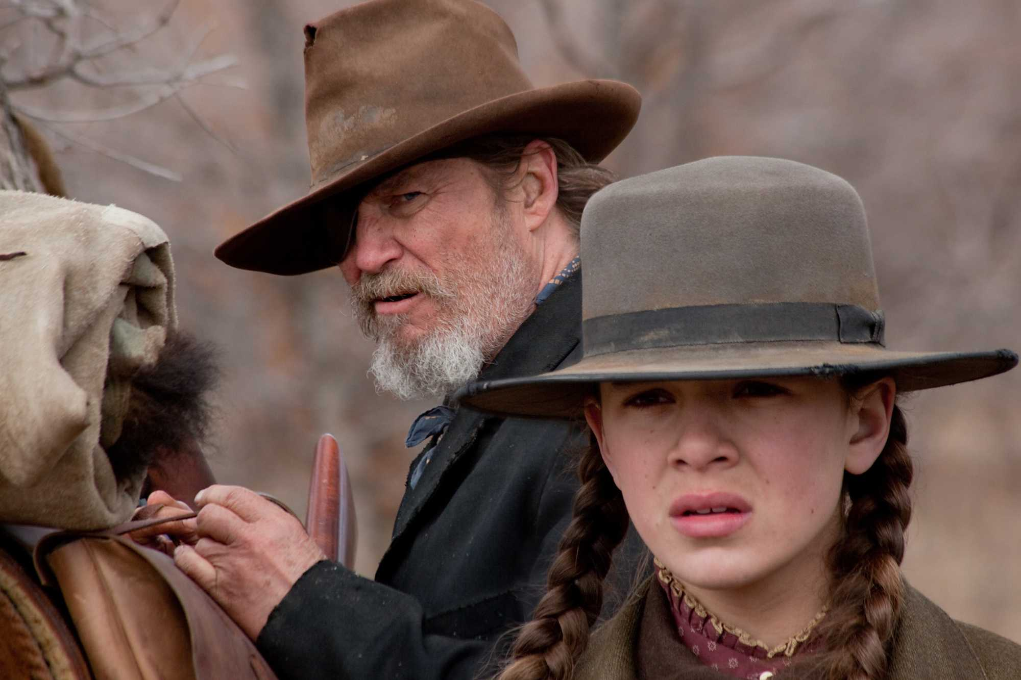 Jeff Bridges and Hailee Steinfeld star in TRUE GRIT.