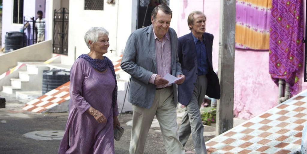 Judi Dench, Tom Wilkinson, and Bill Nighy star in THE BEST EXOTIC MARIGOLD HOTEL.